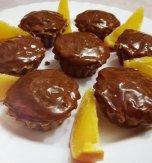 Orange chocolate cupcakes with walnuts