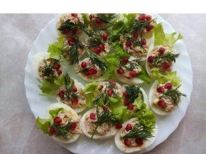Eggs stuffed with tuna