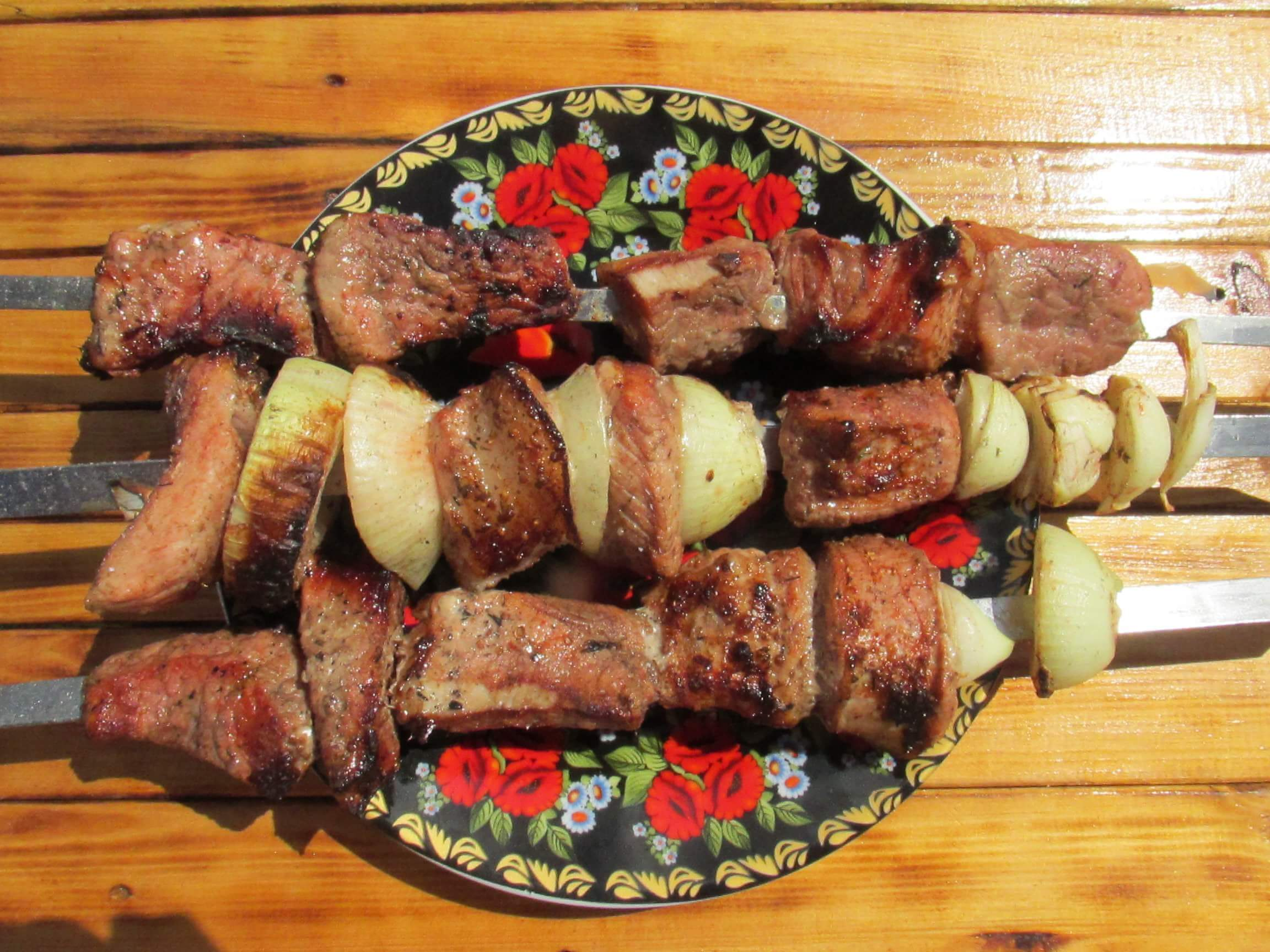 Pork kebab in tomato sauce | Ukrainian recipes