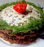 Layered liver cake
