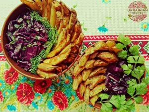 Baked crispy potato wedges packed full of flavor