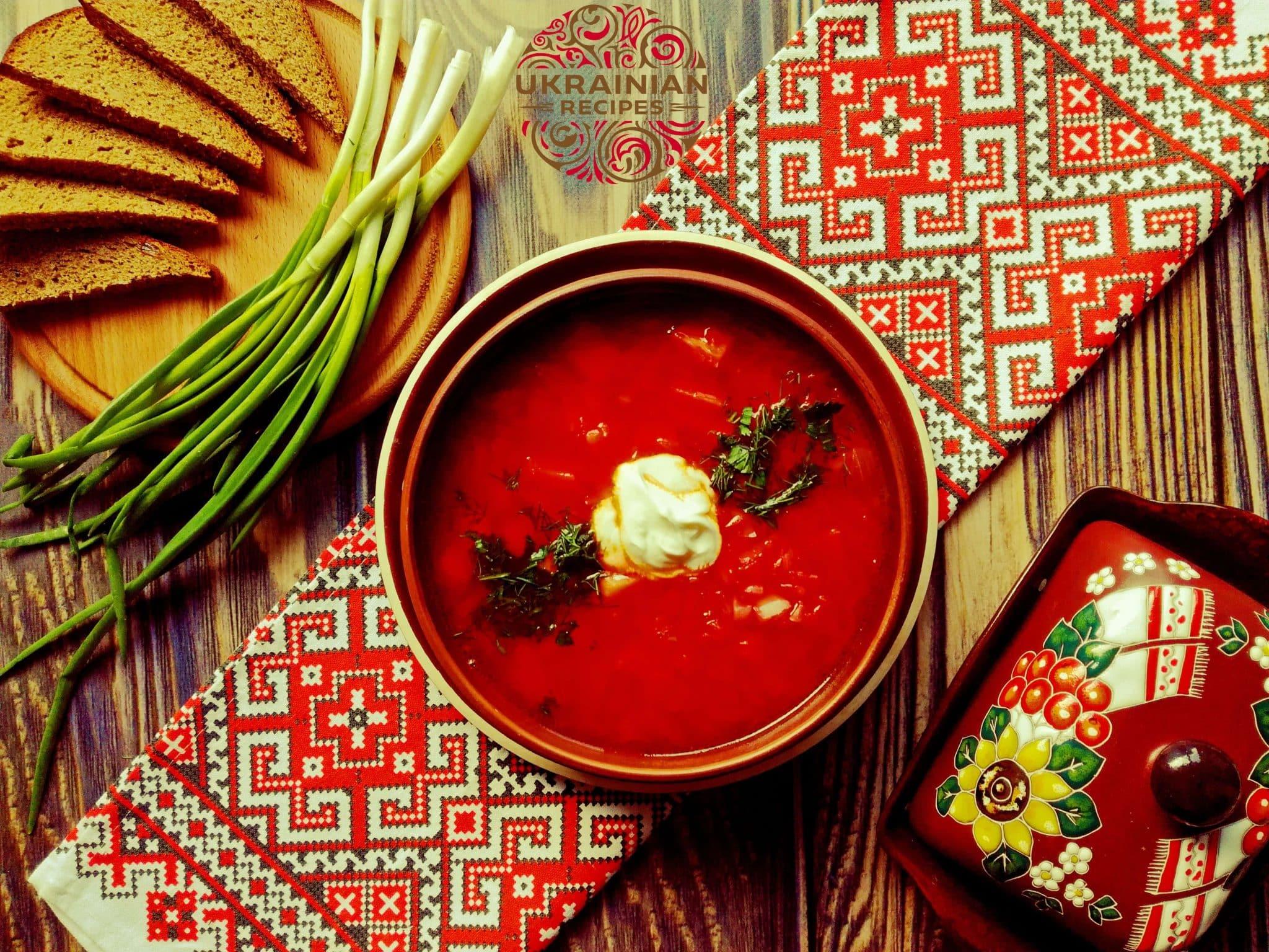 Vegetarian Borscht Ukrainian Recipes