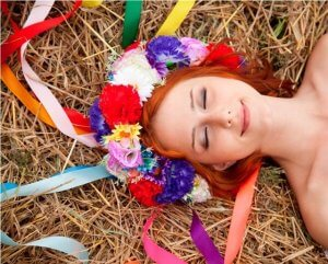 Ukrainian flower wreath