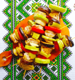 Chicken and veggie skewers – Summertime delicacy