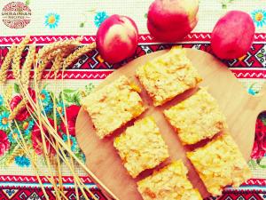Peach shortcrust tart