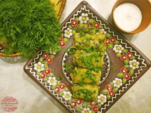 Ukranian cabbage rolls with mushrooms