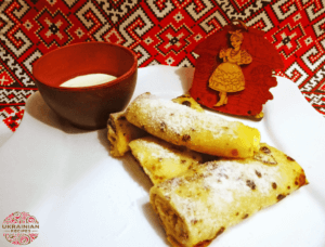 Nalysnyky – Ukrainian cheese filled crepes