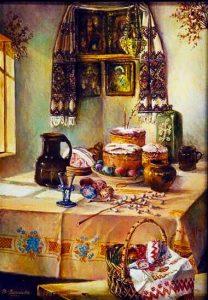 Ukrainian Easter table settings