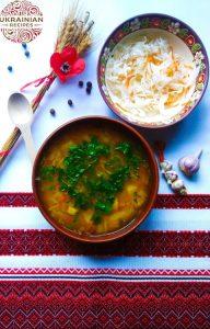 Ukrainian sauerkraut soup