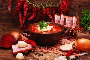 Old Ukrainian dishes