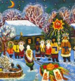 Ukrainian home decor for New Year holidays