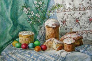 Old Ukrainian Easter cake