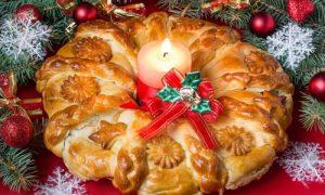 Braided kolach yeast bread